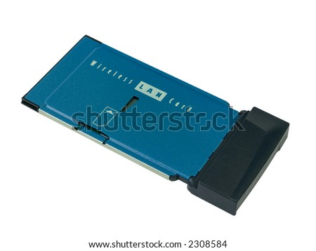 Wireless network card on white background.