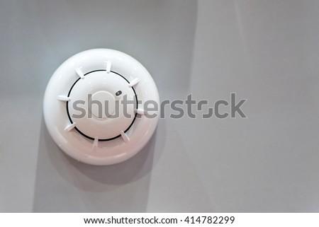 Wireless oftical smoke detector - stock photo