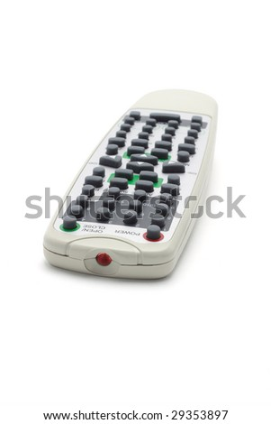 Wireless remote controller isolated on white background