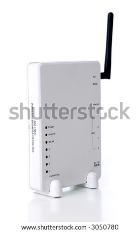 Wireless router - stock photo