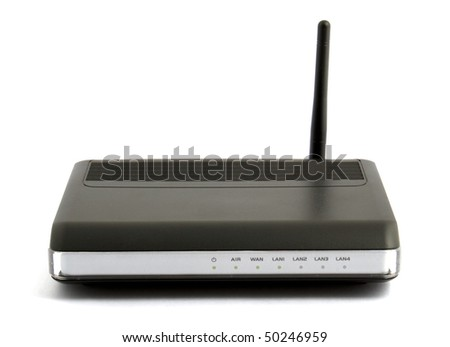 wireless router isolated on white