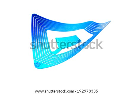 wireless tag used for RFID purposes - stock photo