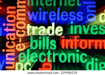 Wireless trade electronic - stock photo