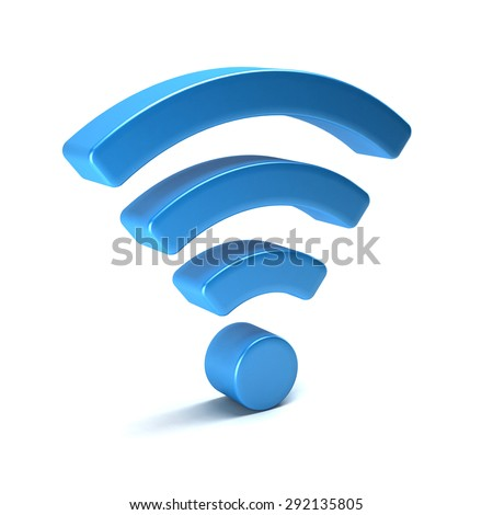 Wireless wifi 3D render isolated - stock photo
