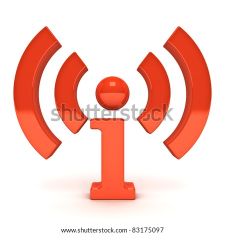 Wireless wifi info icon - stock photo