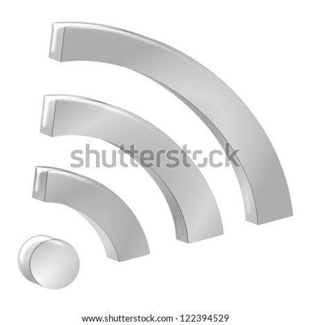 wireless WiFi wlan symbol - stock photo