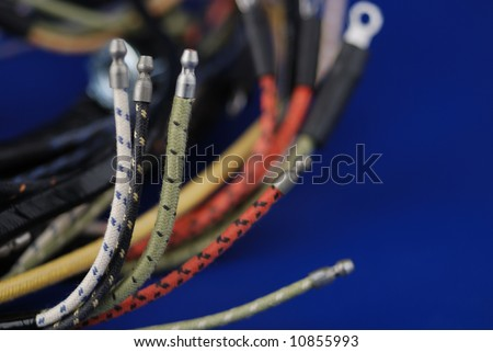 wiring harness for automobile - stock photo