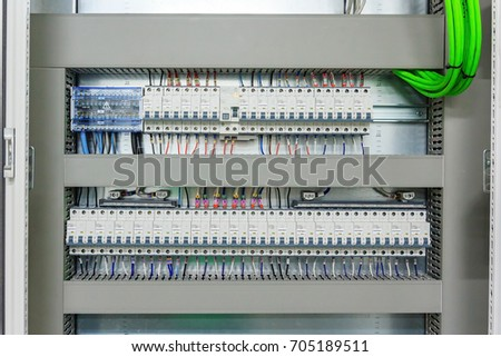 wiring plc control panel wires cabinet stock photo 100 legal rh shutterstock com writing cabinet paper bahamas government wiring cabinet lighting