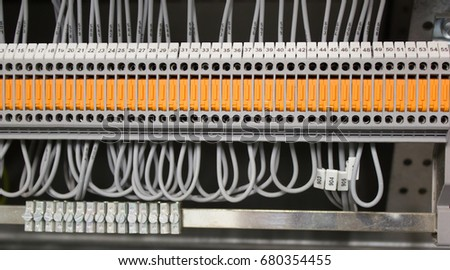 stock photo wiring terminal with knife switch 680354455 knife switch stock images, royalty free images & vectors knife switch wiring at gsmx.co