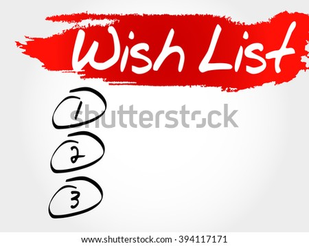 Wish List blank list, business concept - stock photo