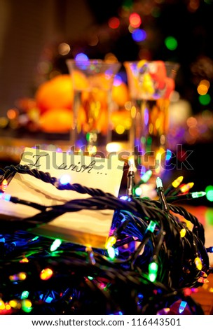 wish list. New year celebration - stock photo