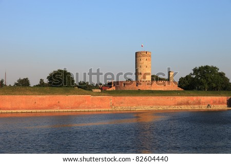 Wisloujscie Fortress a place where in the fifteenth century, observed the movement of vessels, Gdansk, Poland.