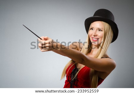 Witch doing her dirty tricks - stock photo