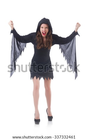 Witch isolated on white background - stock photo