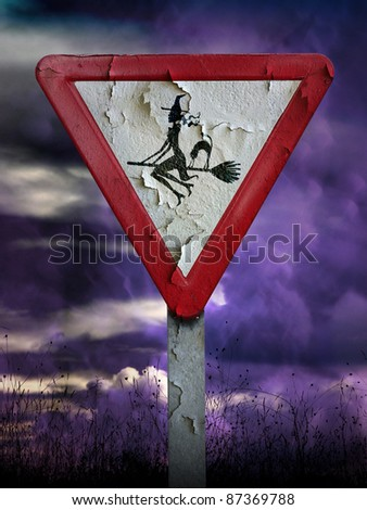 witch sign - stock photo