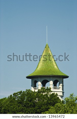 Witches Hat Water Tower (Famous Landmark in St. Paul, Minnesota) - stock photo