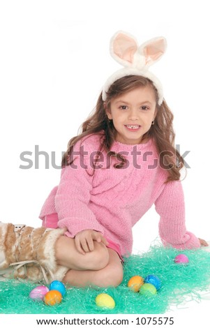with her large ears she makes a Cute Easter Bunny - stock photo