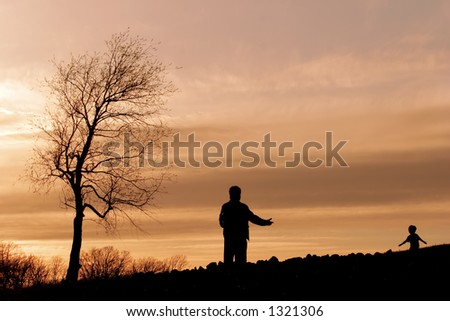 With Open Arms - stock photo