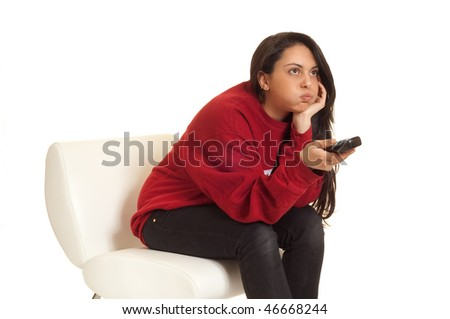 with remote control - stock photo
