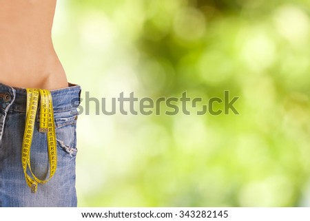 with slim trousers plus size - stock photo
