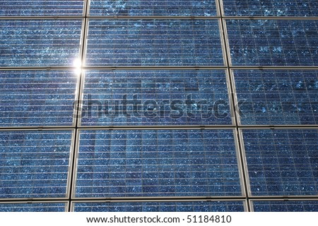 With solar cells can generate environmentally friendly electricity. - stock photo