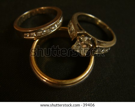 With this ring - stock photo