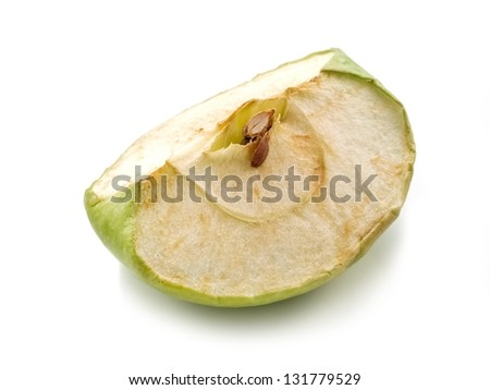 Withered slice of apple