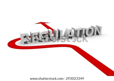 without regulation  3D illustration