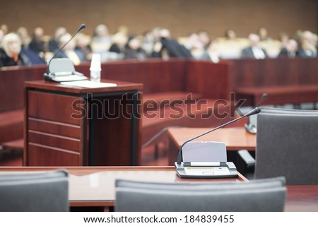 witness stand - stock photo