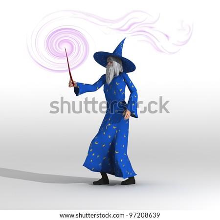 wizard - stock photo