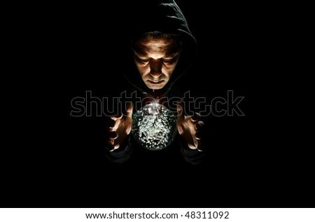 wizard me - stock photo
