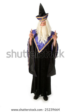 Wizard when you need magic tricks - stock photo
