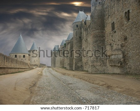 Wizards alley - stock photo