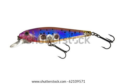 Wobbler minnow isolated on white background - stock photo