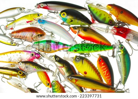 Wobblers on white background. - stock photo
