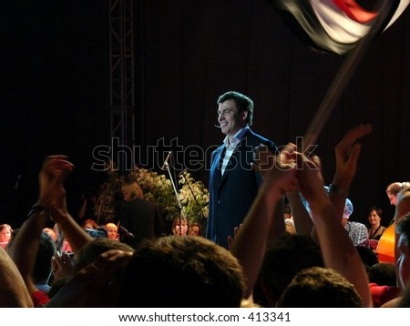 Wojciech Olejniczak, boss of SLD party (Poland, Wroclaw, 1005-07-03) - stock photo