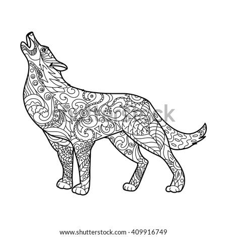 Wolf Walking Forward
