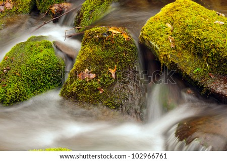 Wolf Creek in in the Smoky Mountains in the Spring - stock photo
