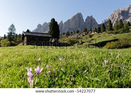 Wolkenstein - Dolomites - stock photo