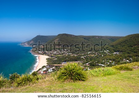 Wollongong beach coast, Southern Sydney, Australia. - stock photo