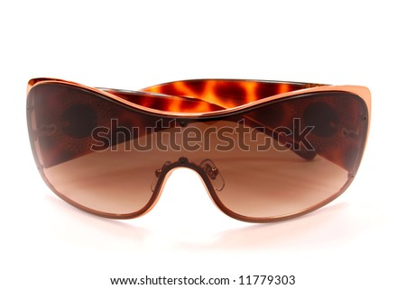 woman accessory. sunglasses isolated on white - stock photo