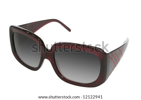 woman accessory - sunglasses isolated on white