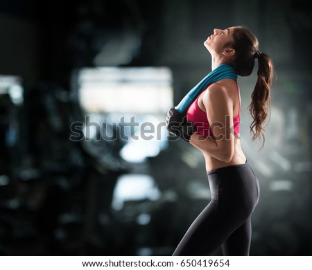 Woman after gym workout