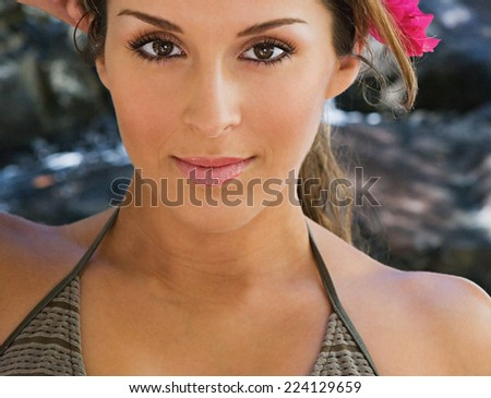 woman after spa - stock photo