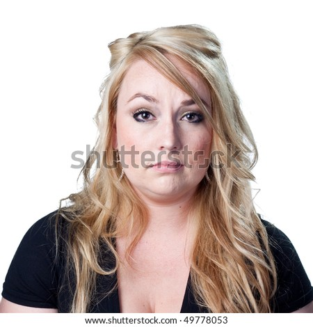 Woman almost crying - stock photo