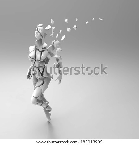 Woman and aging - stock photo