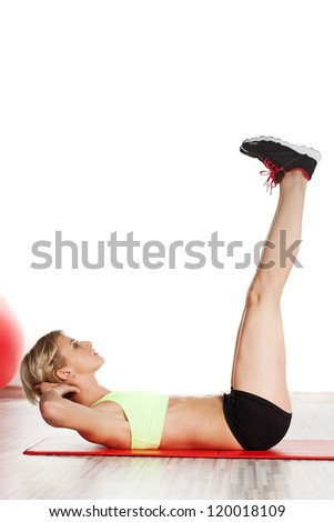 Woman at gym - stock photo