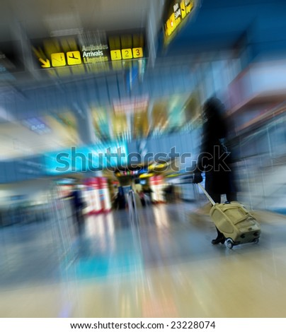 Woman at the Airport - stock photo