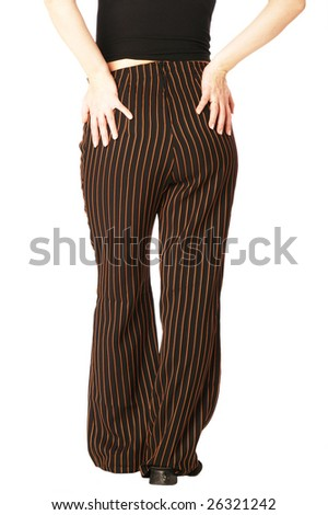 woman; back; nates; hips; hands; girl; legs - stock photo