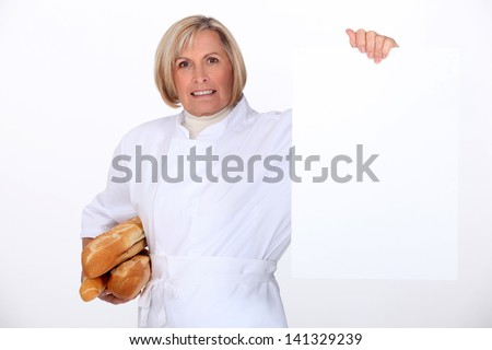 Woman baker - stock photo